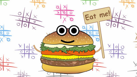 Eat me and tic-tac-toe Animation