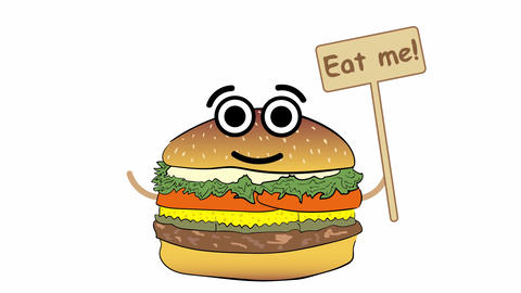 Eat me on white Animation