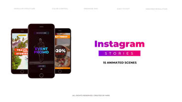 Instagram Stories Premiere Proテンプレート