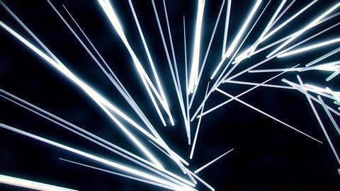 White Neon Tubes Vortex VJ Loop Abstract Motion Background 애니메이션