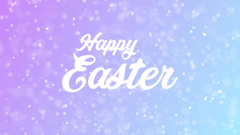 Happy Easter Greeting card text with beautiful snow and… Stock Video Footage