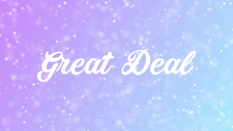 Great Deal Greeting card text with beautiful snow and stars particles Animation