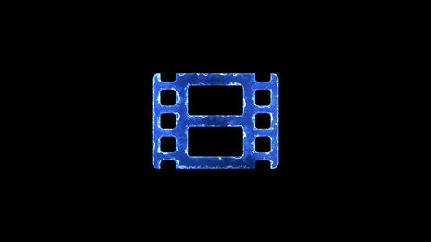 Symbol film. Blue Electric Glow Storm. looped video. Alpha channel black Animation
