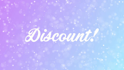Discount Greeting card text with beautiful snow and stars... Stock Video Footage
