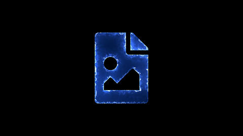 Symbol file image. Blue Electric Glow Storm. looped video. Alpha channel black Animation