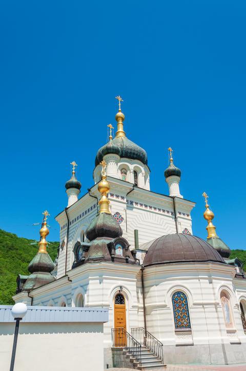 Foros Orthodox Church in Crimea on a summer day Photo