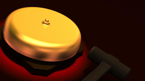 Spotlighted repeating boxing bell on red text space Animation