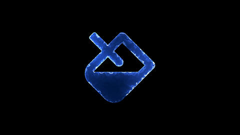 Symbol fill. Blue Electric Glow Storm. looped video. Alpha channel black Animation