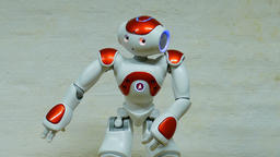Humanoid robot is dancing Footage
