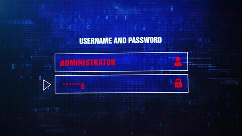 Invalid Password Alert Warning Error Message Blinking on Screen ビデオ