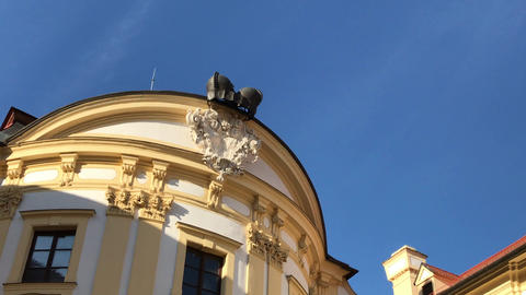 Roof with attic of historical Austerlitz castle, Czech Republic ビデオ