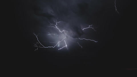 Lightning in the sky. Electric discharges in the sky Live Action