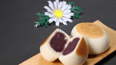 Manju, Japanese cake with bean paste Footage