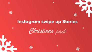 Christmas Instagram swipe up After Effects Template