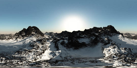 aerial vr 360 panorama of mountains. made with the one 360 degree lense camera ビデオ