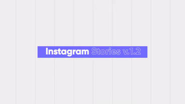 Instagram stories v.1.2 애프터 이펙트 템플릿