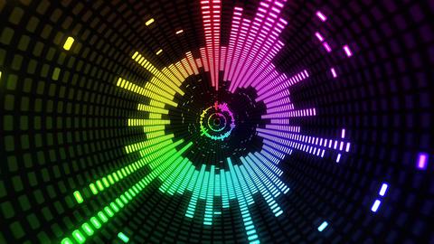 [alt video] Colorful Equalizer VJ Background Loop Tunnel