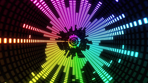 Colorful Equalizer VJ Background Loop Tunnel Animation