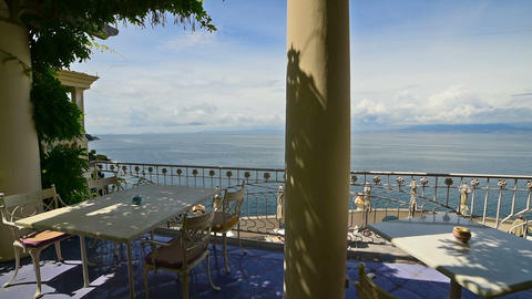 Beautiful terrace in world famous Sorrento. Amalfi coast, Italy Live Action