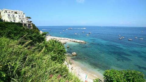 Marina Grande beach in world famous Capri island Live Action