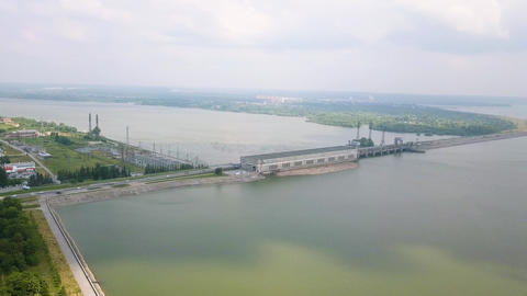 Novosibirsk Hydroelectric Power Plant is a hydroelectric… Stock Video Footage