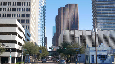 driving into downtown Houston Texas Footage