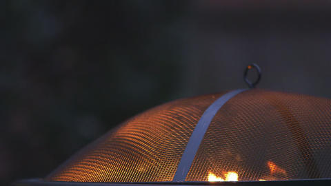 fire in an outdoor firepit Footage