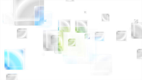 Bright glossy abstract squares video animation Animation