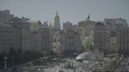 A timelapse video .Independence square in Kiev (Kyiv) . Ukraine Footage