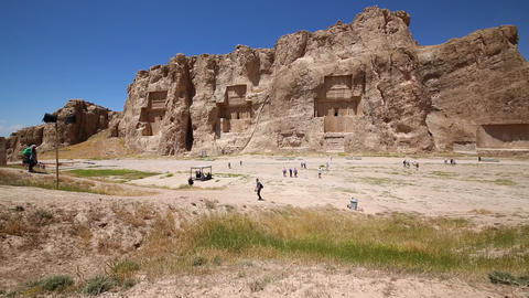 In iran near persepolis the old ruins 016 Footage