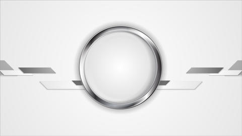 Abstract technology video animation with metal circle Animation