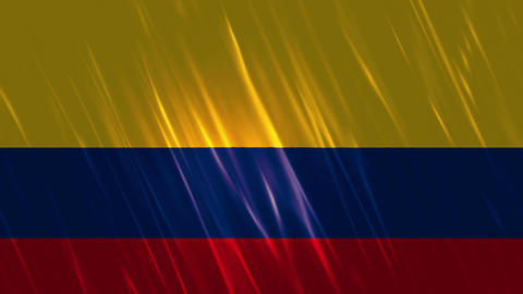 Colombia Flag Loopable Background Animation