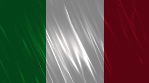 Italy Flag Loopable Background Animation
