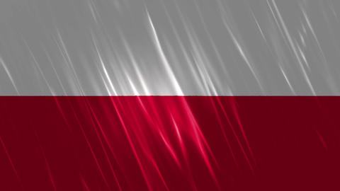 Poland Flag Loopable Background Animation