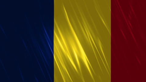 Romania Flag Loopable Background stock footage