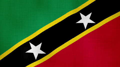 Flag Saint Christopher and Nevis 02 Live Action