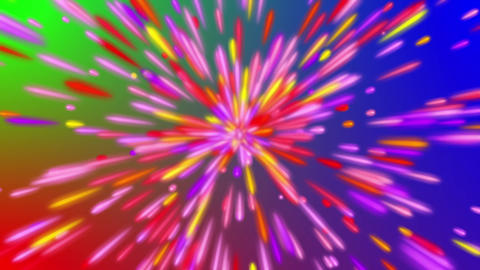 Colorful Streaks RGB Background Psychedelic Disco Motion VJ Loop Animation