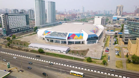 Sports facility. Ice Arena Crystal ( Crystal Ice Arena ). Russia, Krasnoyarsk, Live Action