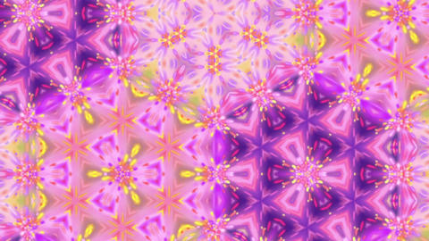 Psychedelic Detailed Kaleido Bright Glowing Pattern Motion Background Loop 1 Animation
