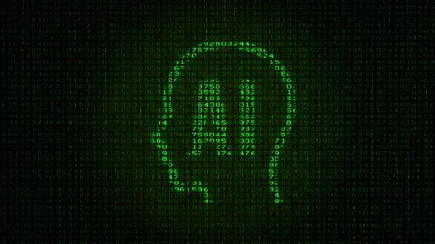 AI - Artificial Intelligence - Digital Data Code Matrix Animation