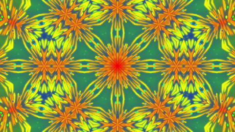 Colorful Kaleidoscope Detailed VJ Abstract Motion Background Loop 2 Animation