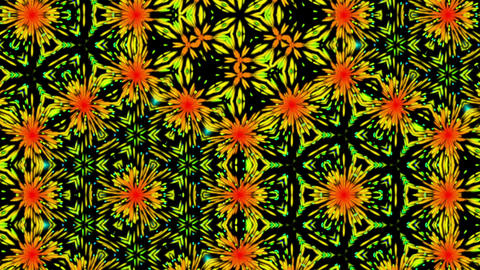 Colorful Dark Kaleidoscope Pattern Fractal Abstract Motion Background Loop 2 Animation