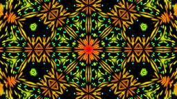 Colorful Dark Kaleidoscope Detailed VJ Abstract Motion Background Loop 2 Animation