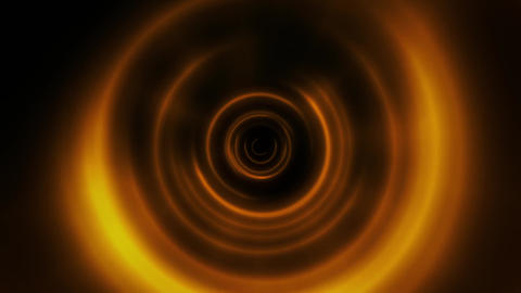 Gold Round Waves Tunnel VJ Loop Motion Background Animation