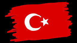 Paint Turkey Flag Animation