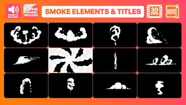 Hand Drawn Smoke Elements Transitions And Titles After Effects Template