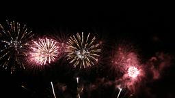 Fireworks display celebration, Colorful New Year Firework 4K Footage