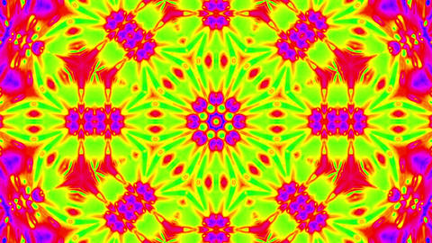 Psychedelic Colorful Kaleidoscope VJ Abstract Motion Background Loop 2 Animation