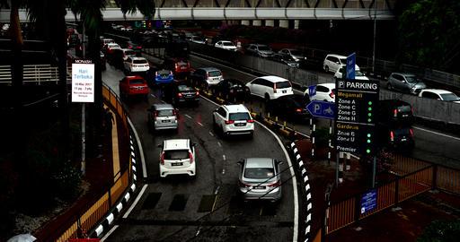 Kuala-Lumpur-Road-Traffic-parking Footage