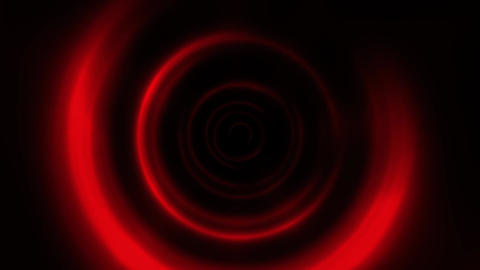 Red Round Waves Tunnel VJ Loop Motion Background CG動画素材